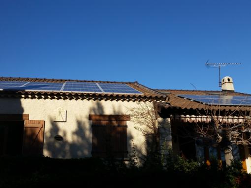 Villa 14 modules en intégration toiture revente et 8 modules autoconsommation